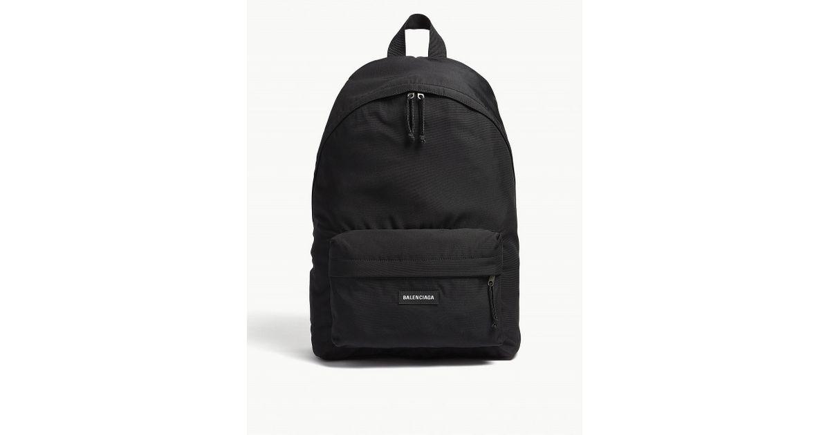 e757f5214f38 Lyst - Balenciaga Mens Black Logo-print Backpack in Black for Men