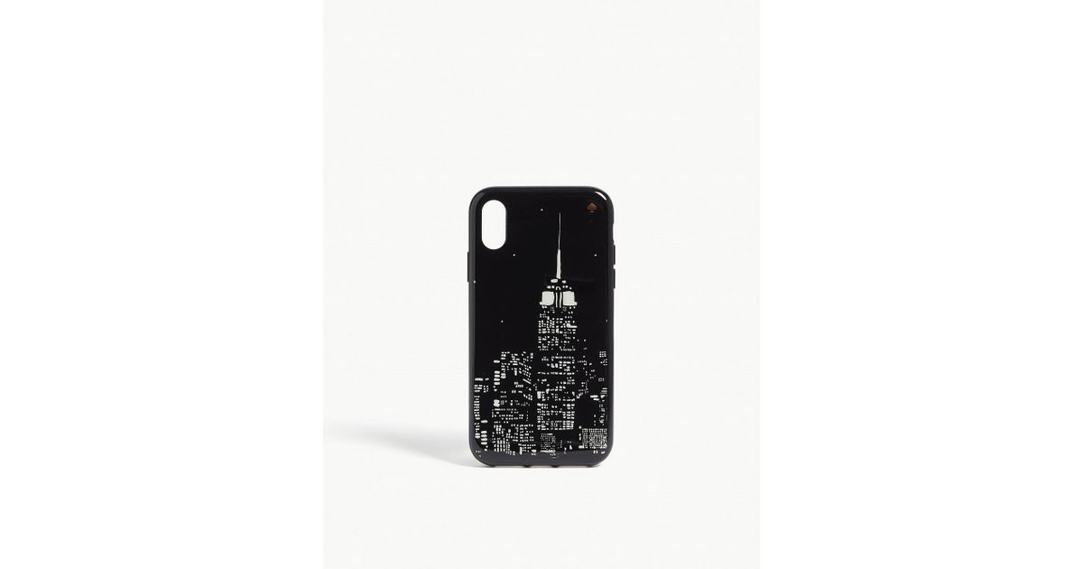 new product 66e86 33eee Kate Spade - Black Skyline Iphone Xr Case - Lyst