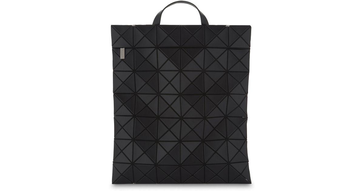 Bao Bao Issey Miyake Prism Flat-pack Backpack in Black - Lyst 531624fdbcfa3