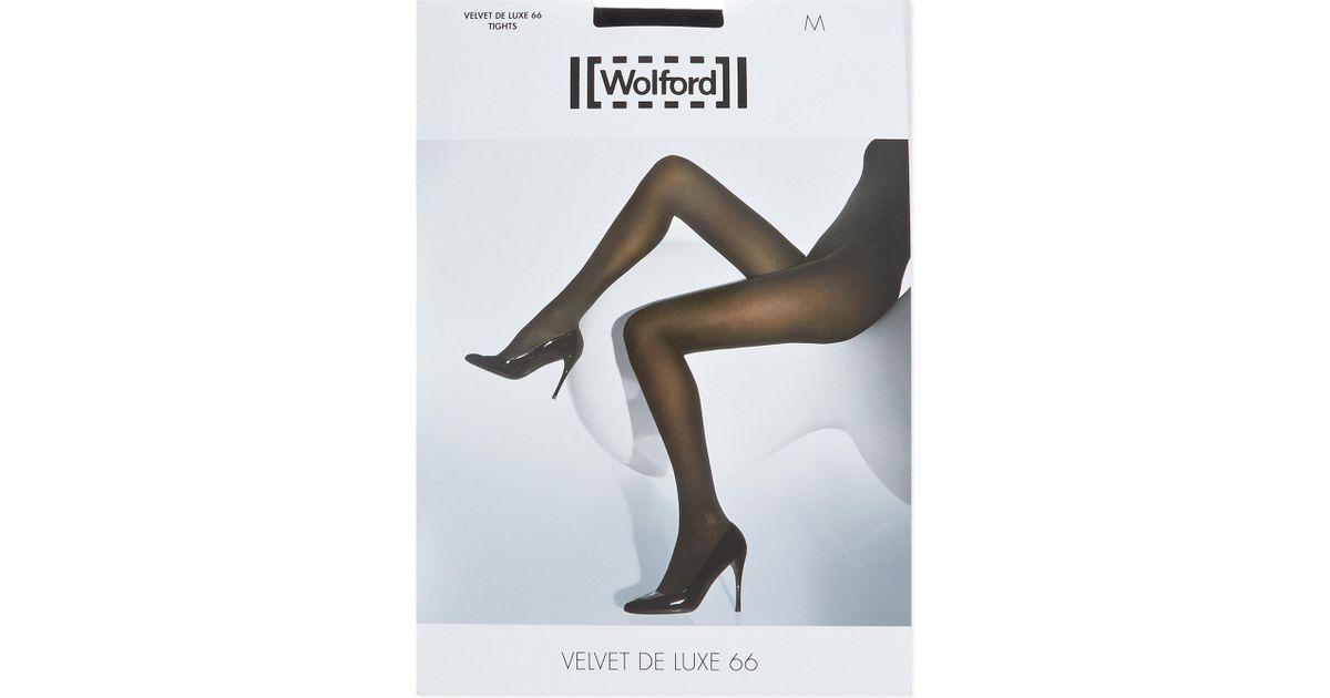 9bc3c737f43 Wolford Velvet De Luxe 66 Denier Tights in Black - Lyst