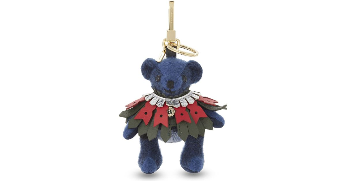 e4211804e5 Burberry Thomas Brouging Cape Bag Charm in Blue - Lyst