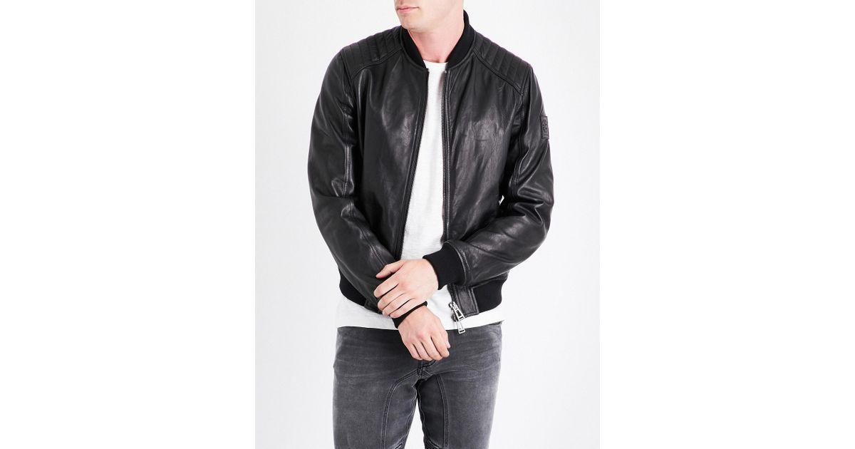 e822bec25 Belstaff Black Pershall Leather Jacket for men