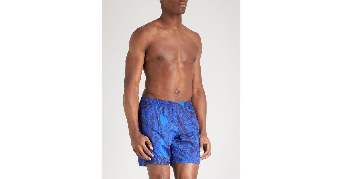 56bd5ba96e516 Lyst - La Perla Aqua Pura Printed Swim Shorts in Blue for Men