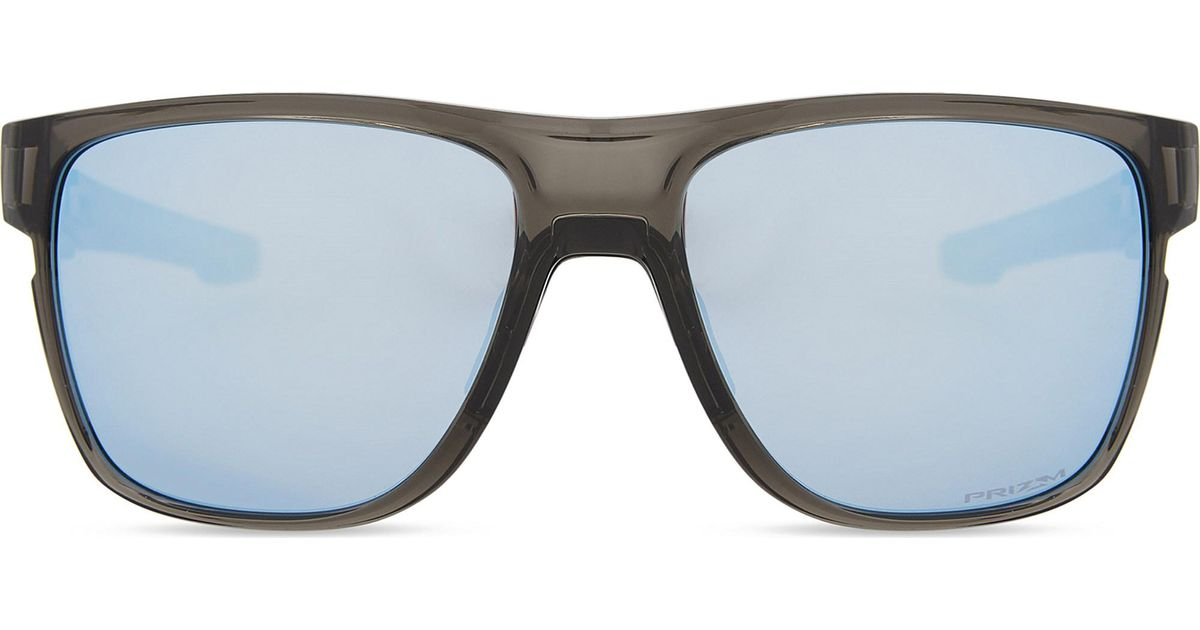 7cfc487c360 Lyst - Oakley Crossrange Xl Prizmtm Deep Water Polarised Square-frame  Sunglasses in Gray