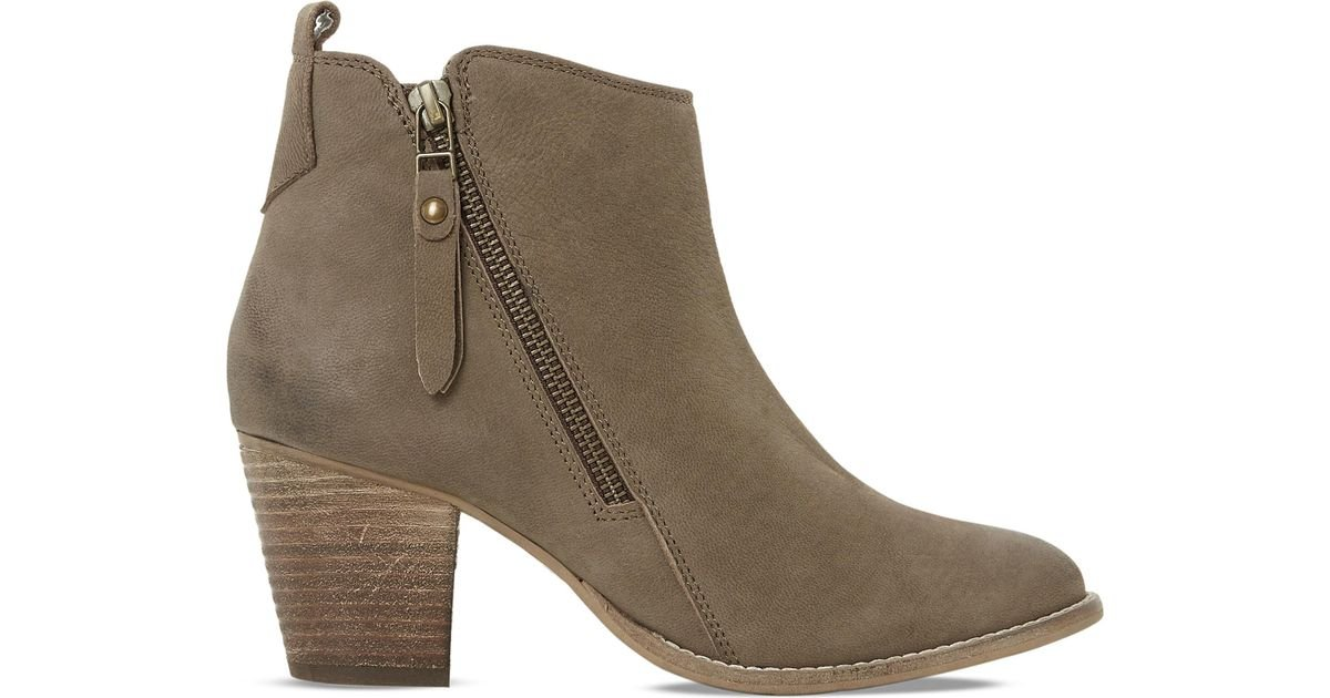 Latest Dune Black-Leather Pontoon Leather Ankle Boots for Women Sale