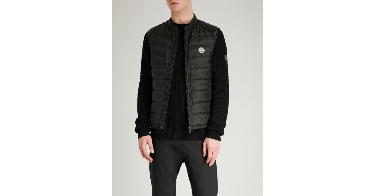 22c5a9b35 Moncler Arves Quilted Shell-down Gilet in Black for Men - Lyst