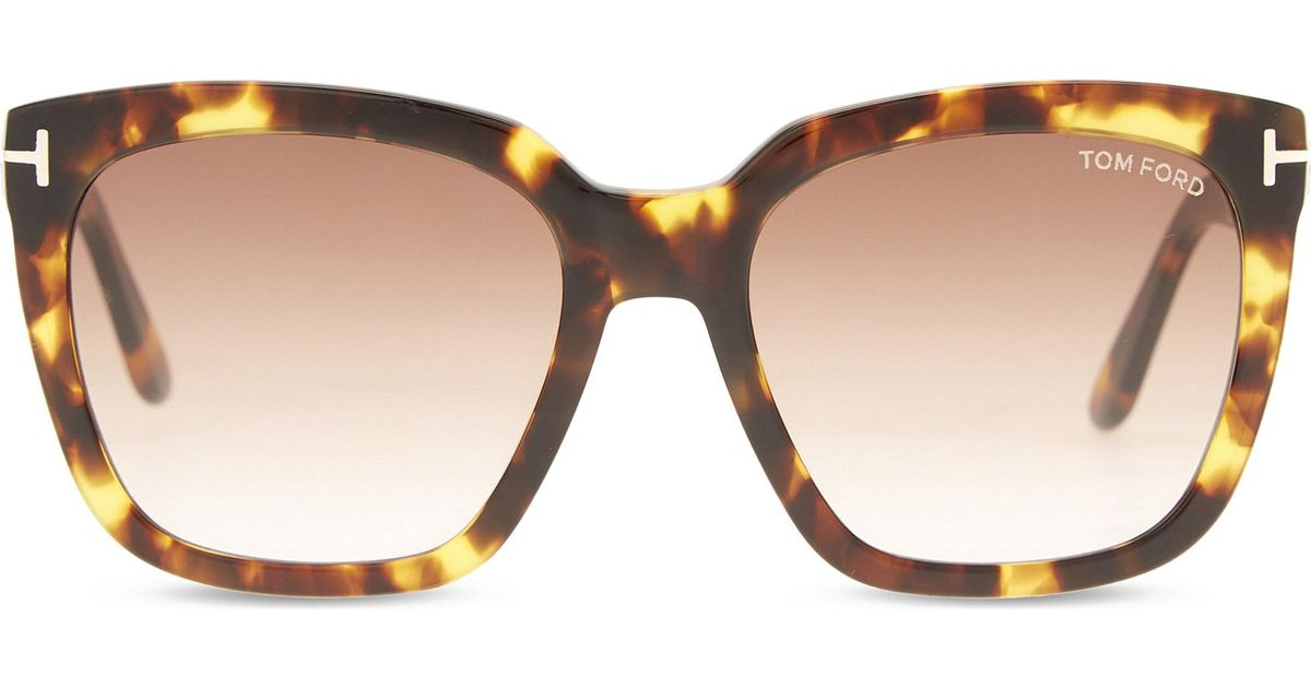 b779ccc74bc1 Tom Ford Amara Tf502 Square-frame Sunglasses in Brown - Lyst