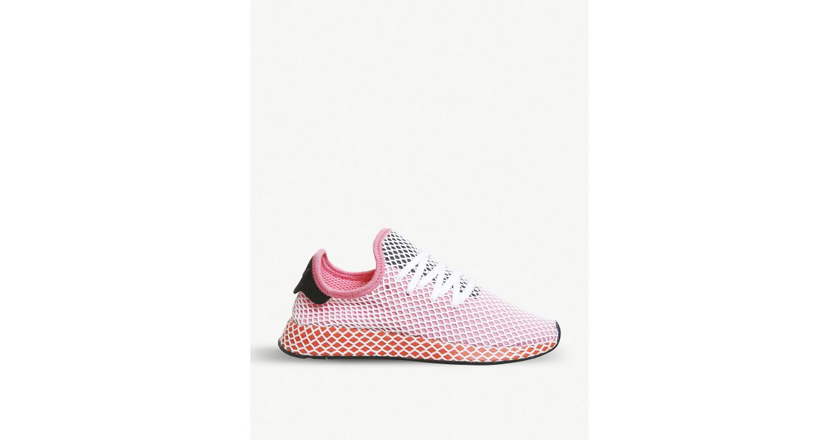 the best attitude 45a2f 29079 Lyst - adidas Deerupt Runner W Gymnastics Shoes in Pink