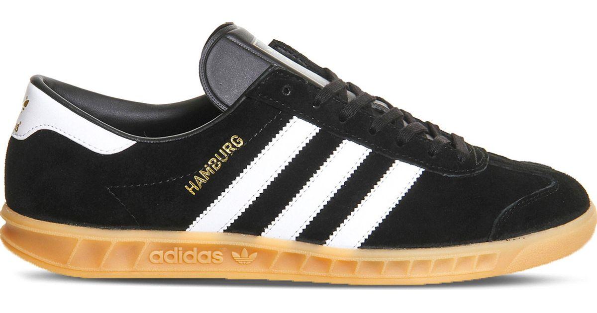 Adidas Black Hamburg Suede Trainers for men