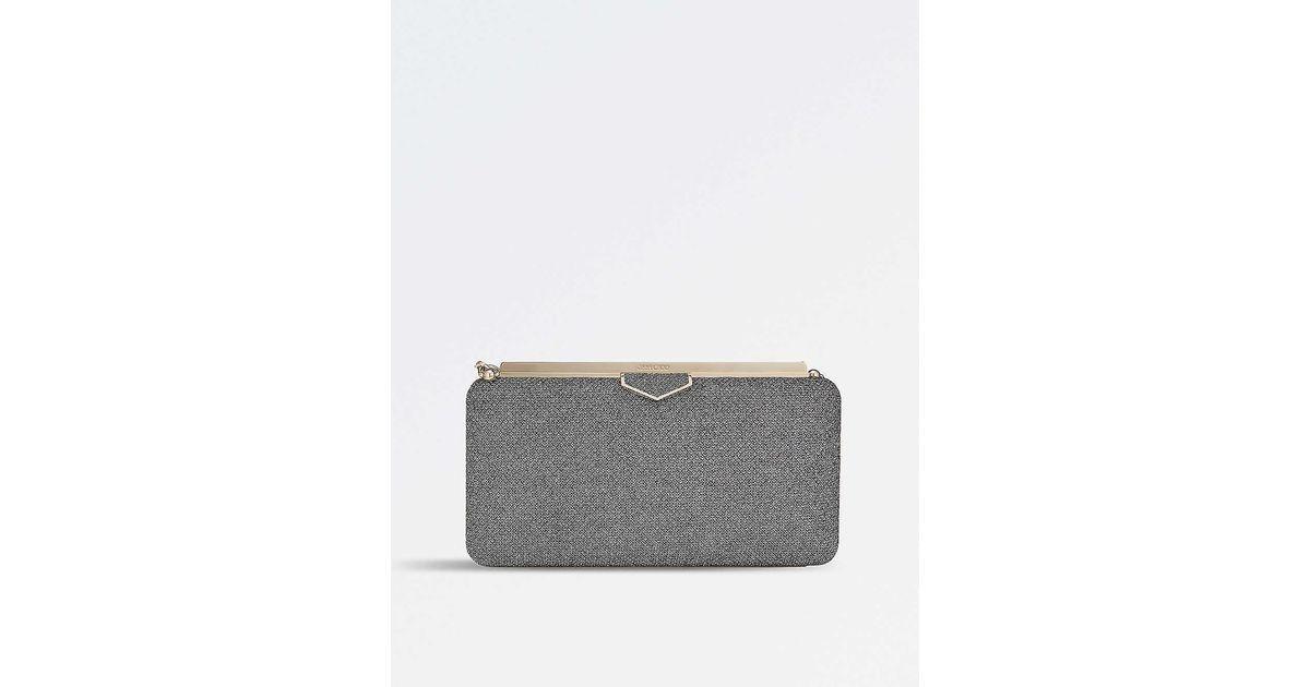 Anthracite Velvet Grey Folded Clutch Bag