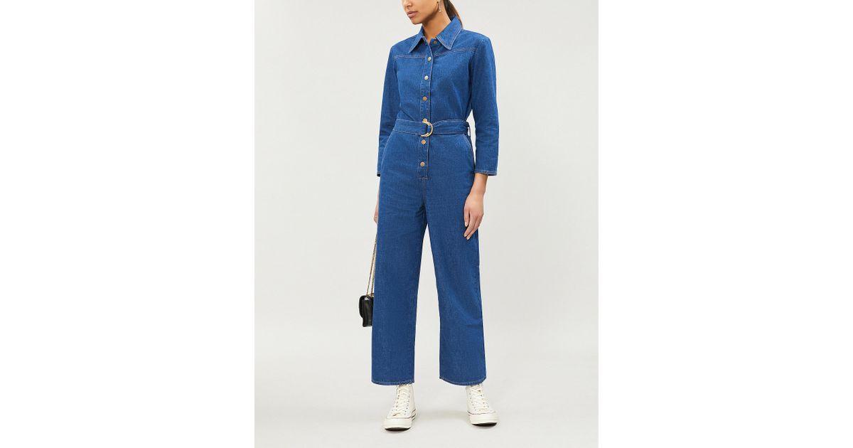 cf82be1bd94 M.i.h Jeans Harper Denim Jumpsuit in Blue - Lyst