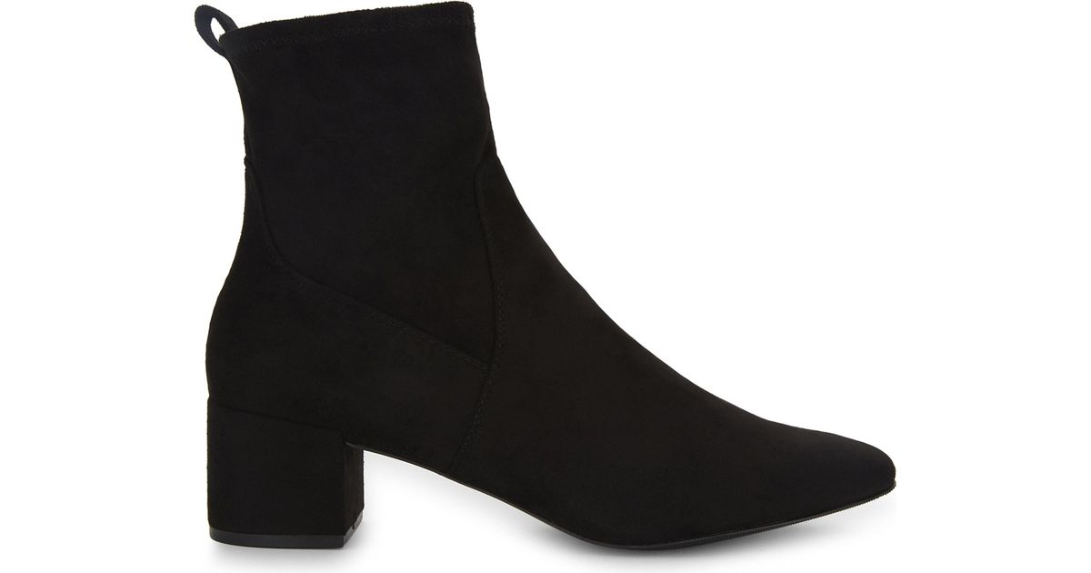 Latest Aldo Black Stefi Suede Ankle Boots for Women On Sale