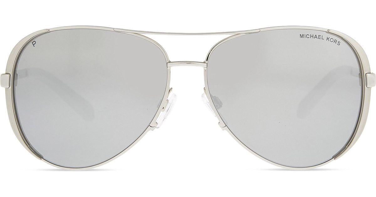 d3cab99e7de4 Michael Kors Mk5004 Chelsea Aviator Sunglasses in Metallic - Lyst