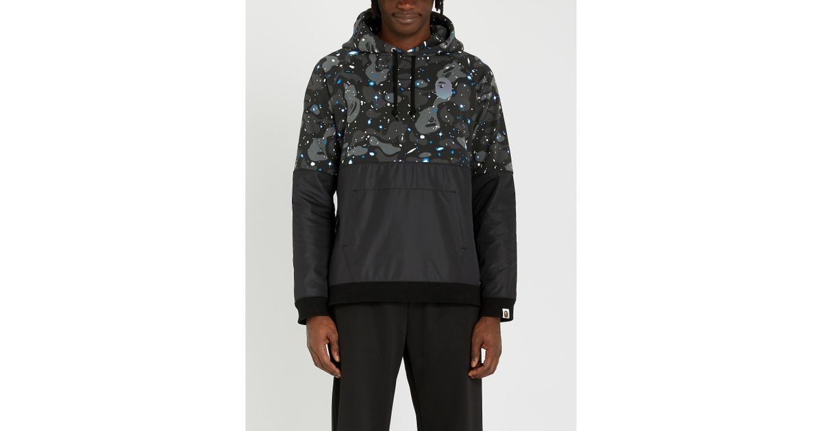 277a42c2 A Bathing Ape Space Camouflage Cotton-jersey And Shell Hoody in Black for  Men - Lyst