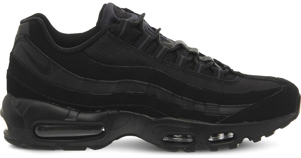 big sale 1d29f 9fb68 Nike Black Air Max 95 Suede And Mesh Trainers for men