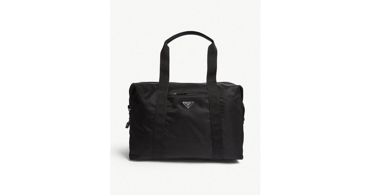 a8fb435cba4c Prada Nylon Technical Weekender Bag in Black for Men - Lyst