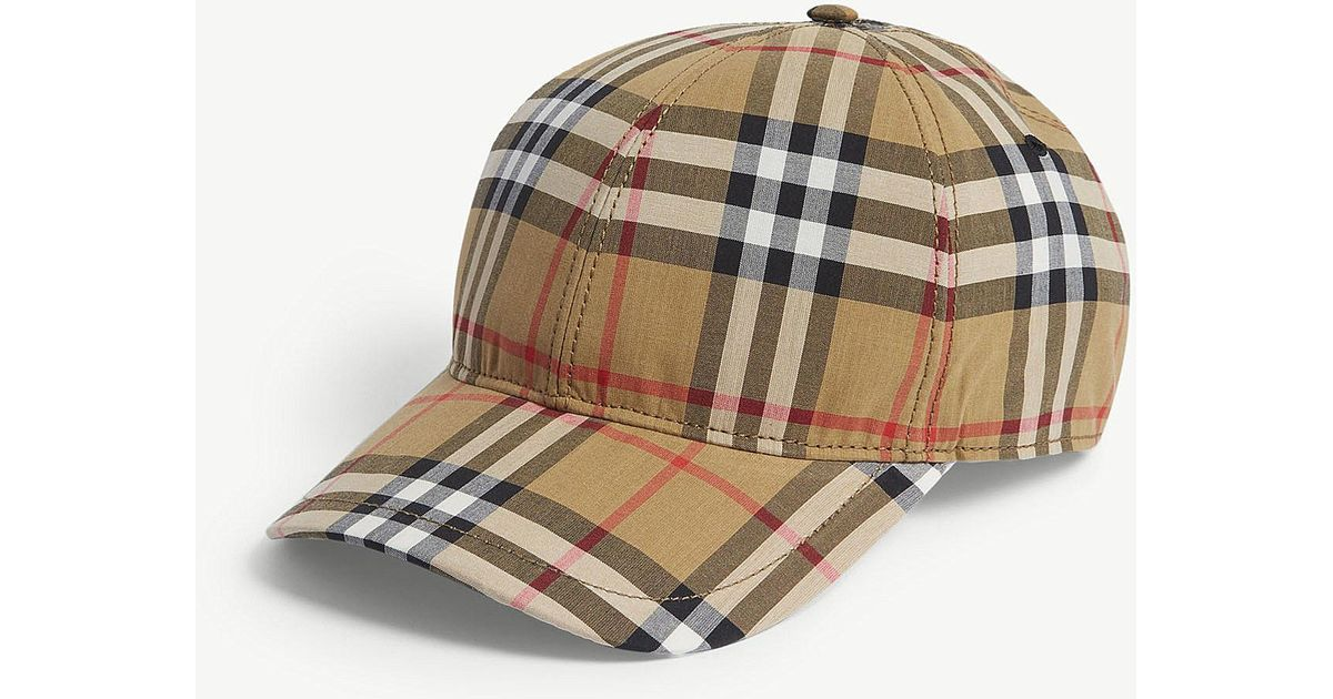 Lyst - Burberry Checked Brushed-wool Baseball Cap in Brown for Men - Save 9% 7e600ff7cb3