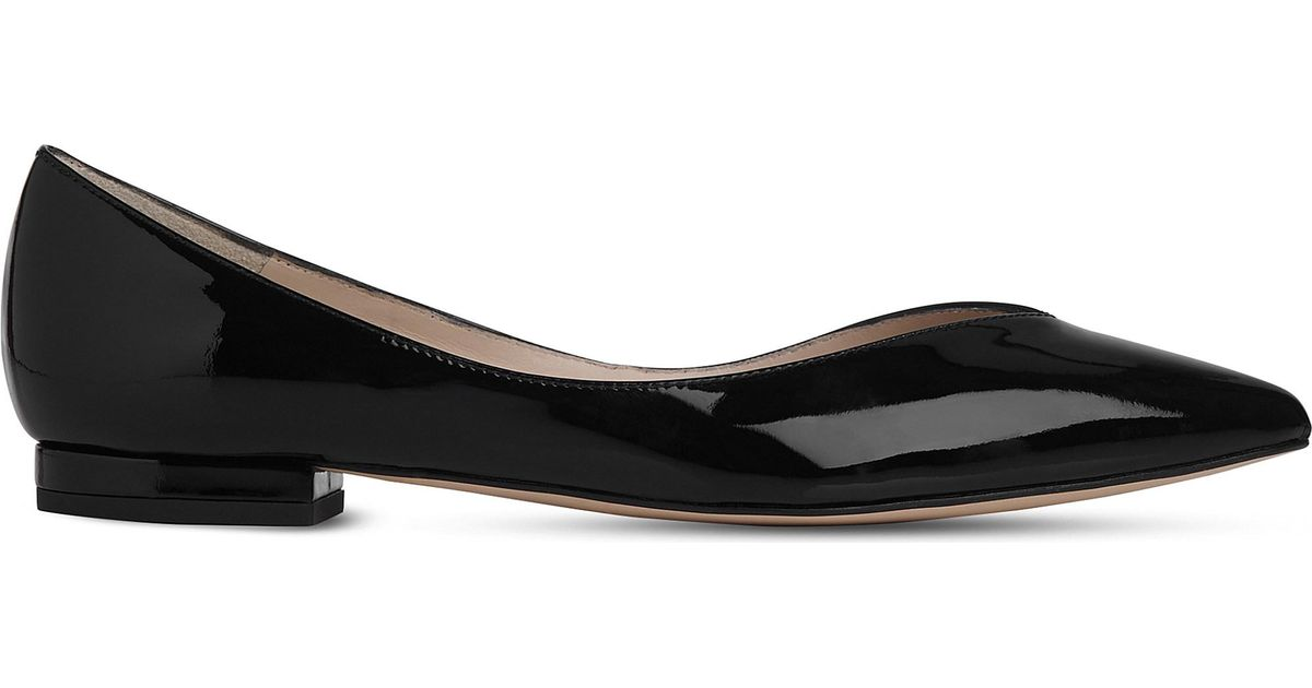 a2382f263b38 Lyst - L.K.Bennett Luisa Pointed Patent-leather Flats in Black