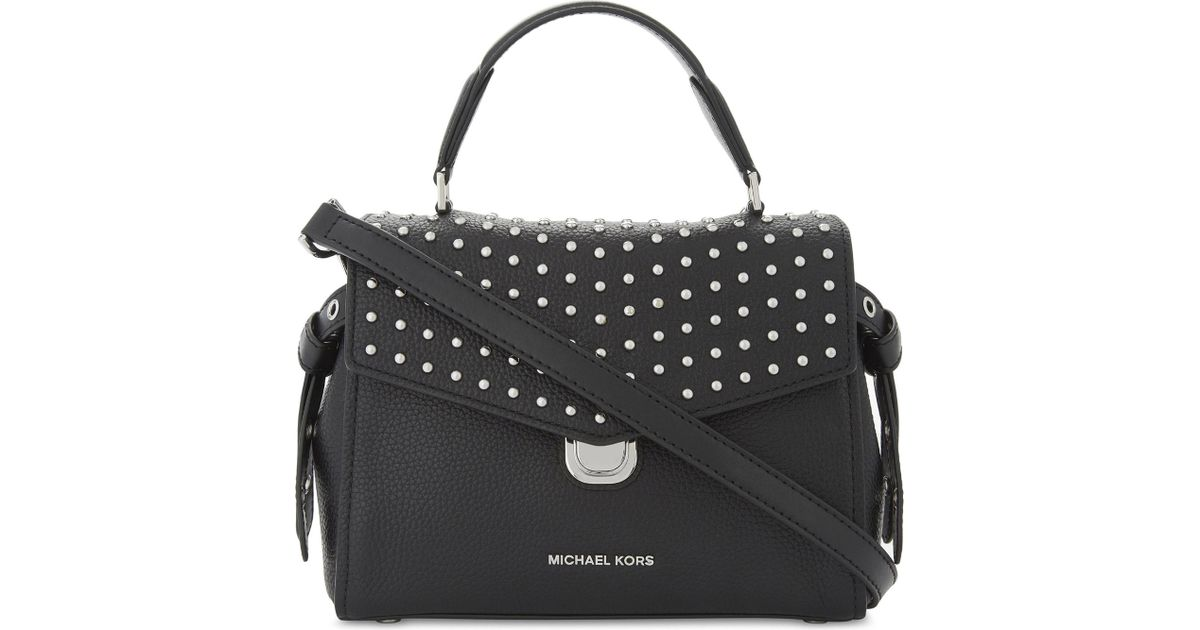 ce925ec7ffbacf ... switzerland lyst michael michael kors bristol studded leather satchel  bag in black 05dab 3b583