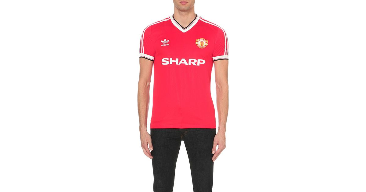 f678edbed adidas Originals Manchester United 1984 Jersey T-shirt in Red for Men - Lyst