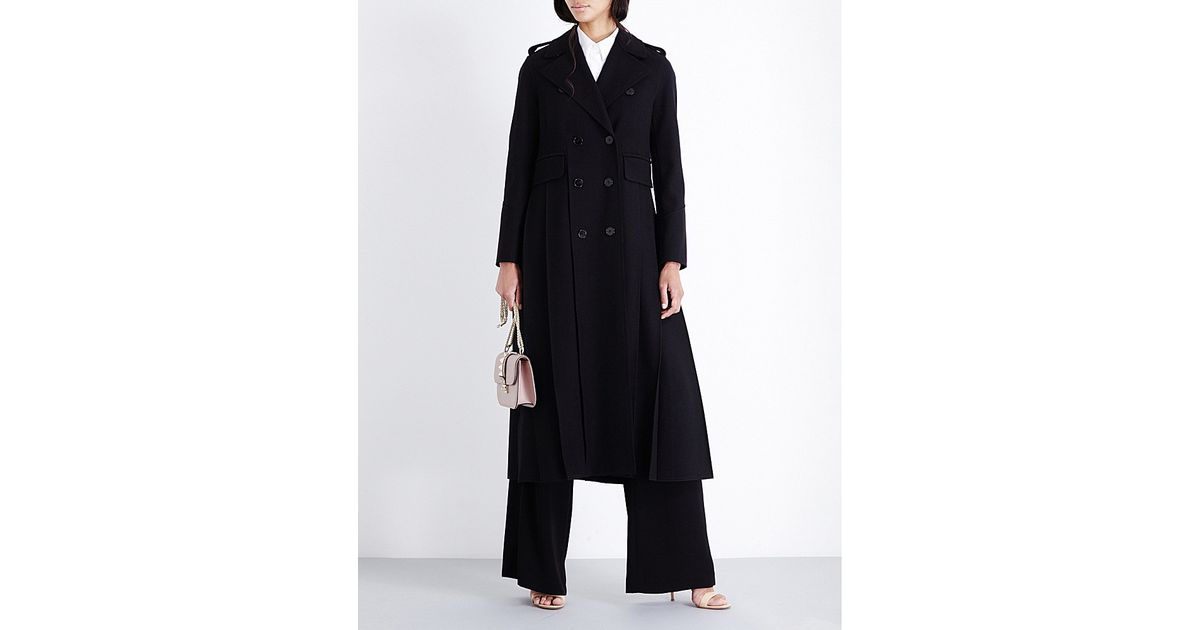 28b0f82faff Lyst - Valentino Oversized Wool-felt Coat in Black