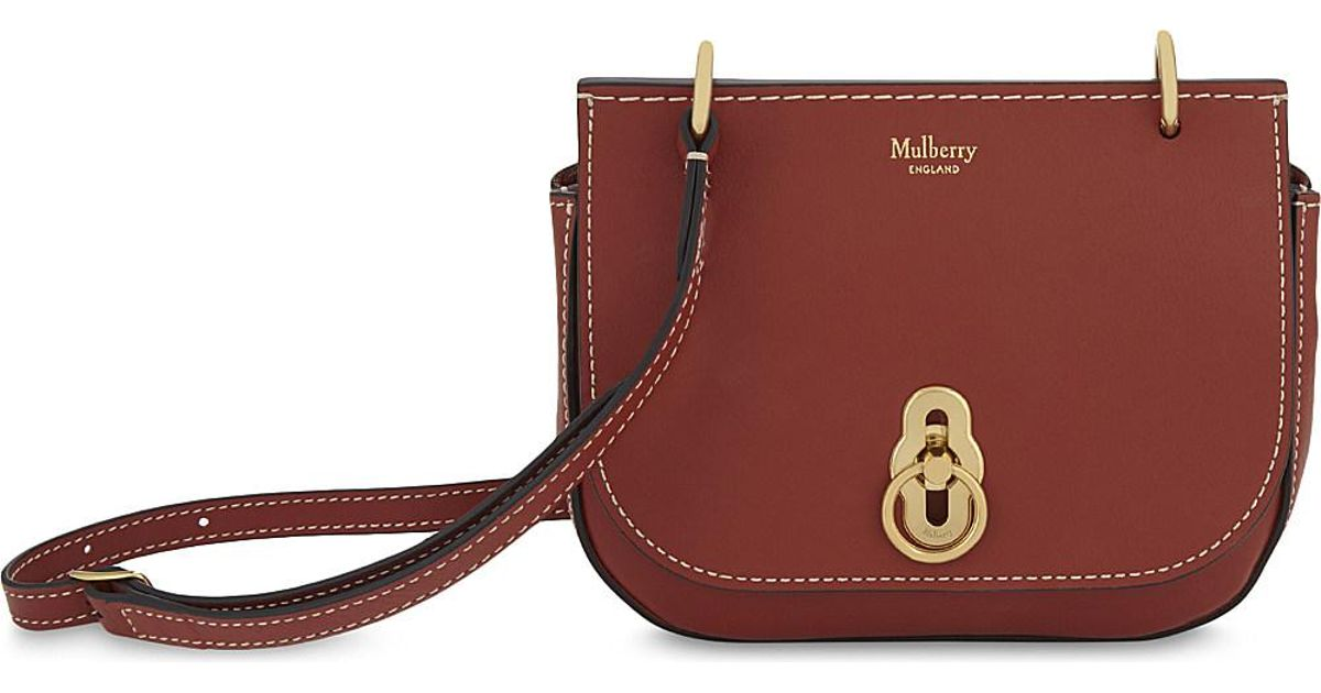 05d842588755 Mulberry Amberly Leather Cross-body Bag in Red - Lyst