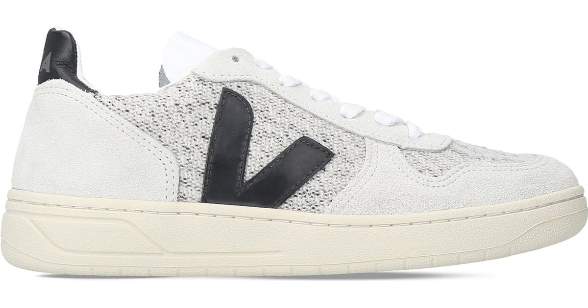 Crítico Disfraces Latón  Veja V10 Flannel And Suede Trainers in Gray - Lyst