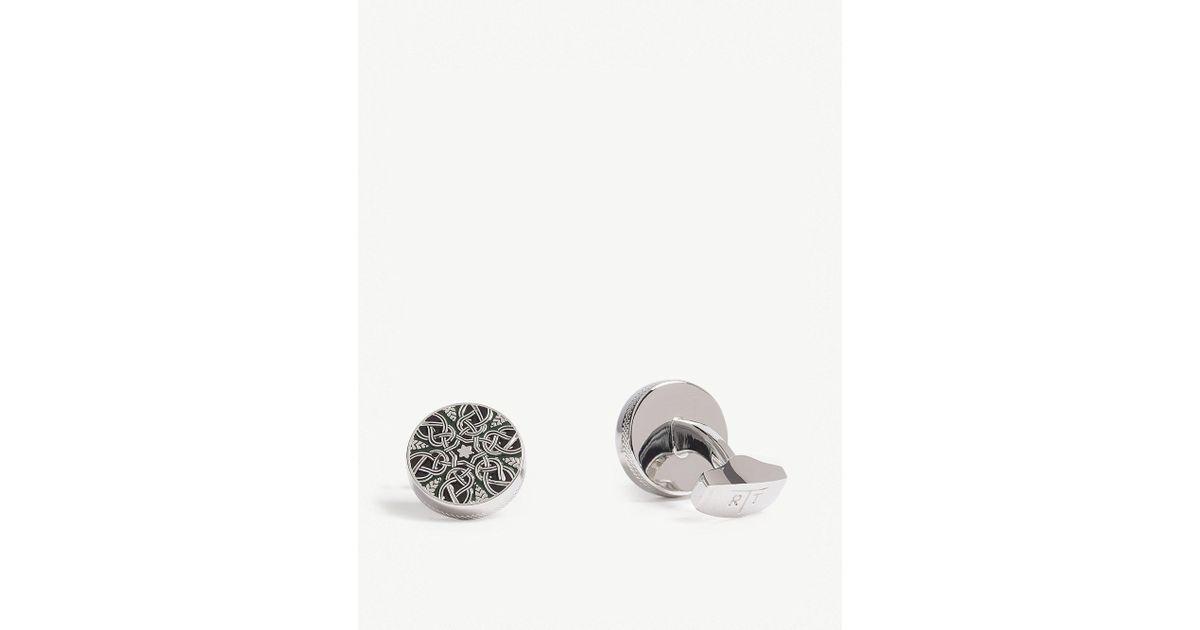 Silver with 3 stripes NEW in box Semi-precious Men/'s M/&S boxed Cufflinks