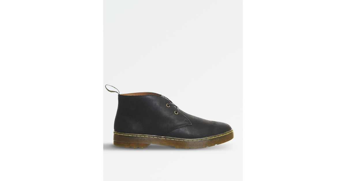 ec698359151 Dr. Martens Black Cabrillo Wyoming Leather Desert Boots for men
