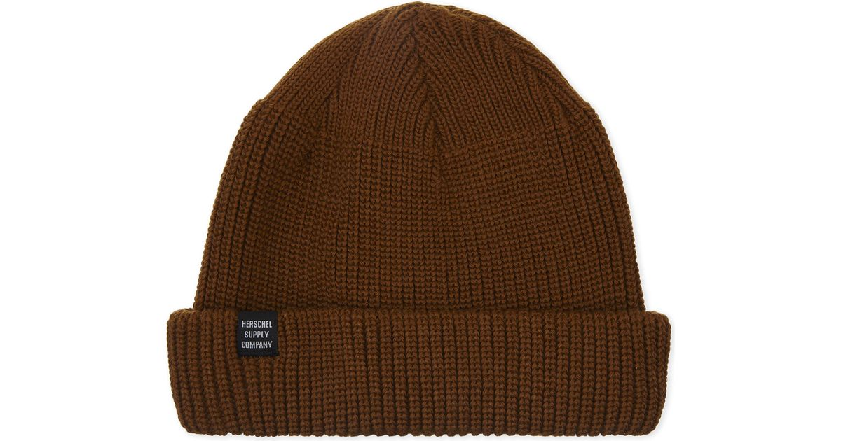 089460f1462 Herschel Supply Co. Buoy Knitted Trawler Beanie in Brown for Men - Lyst