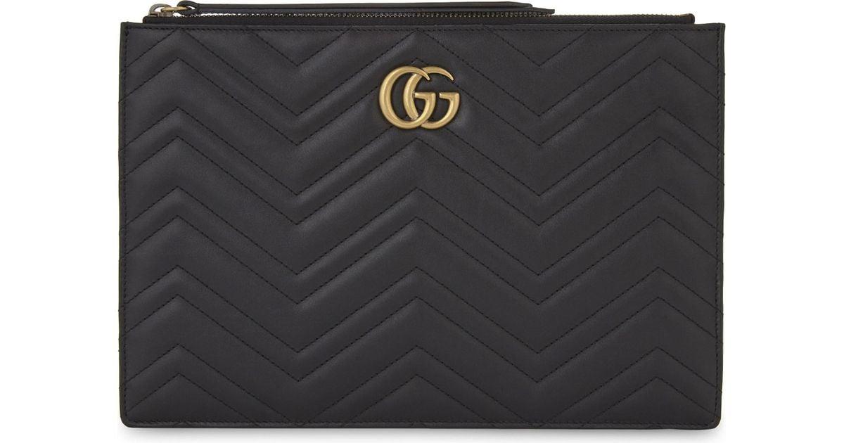 c50213c83f Gucci Black Marmont Leather Pouch