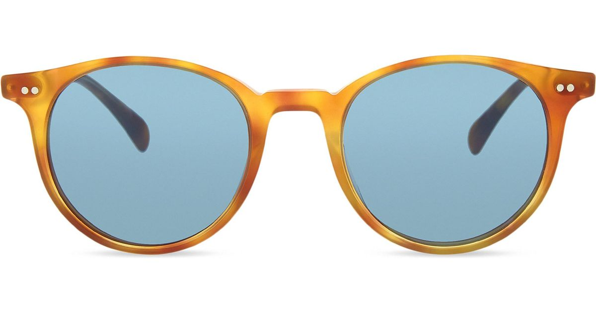 a524aca8421 Lyst - Oliver Peoples Ov5314su Delray Sun Round Frame Sunglasses in Brown