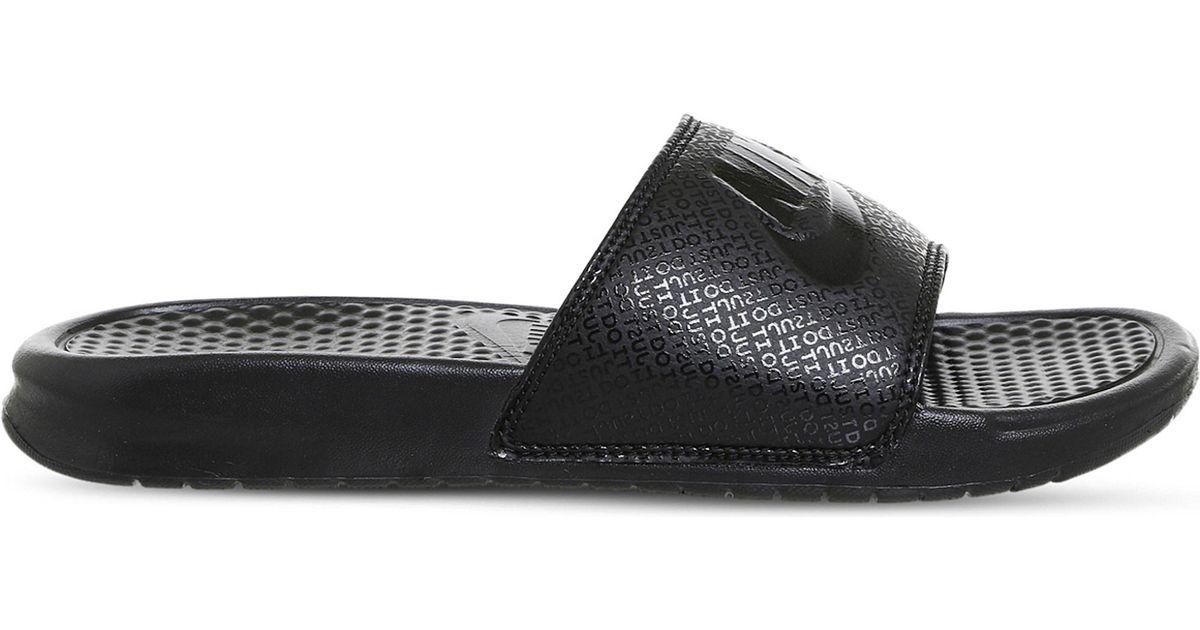 0b87a766e9e2 Nike Benassi Pool Slides in Black for Men - Lyst
