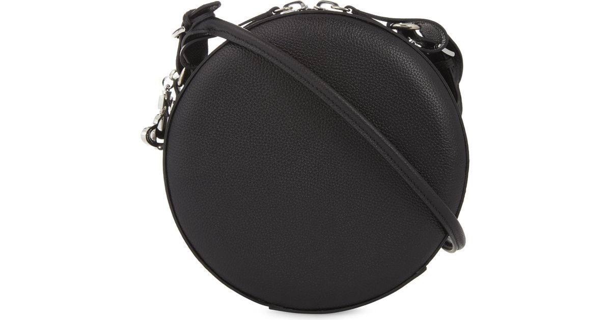f5be6655489 Vivienne Westwood Anglomania Johanna Medium Round Leather Cross-body Bag in  Black - Lyst