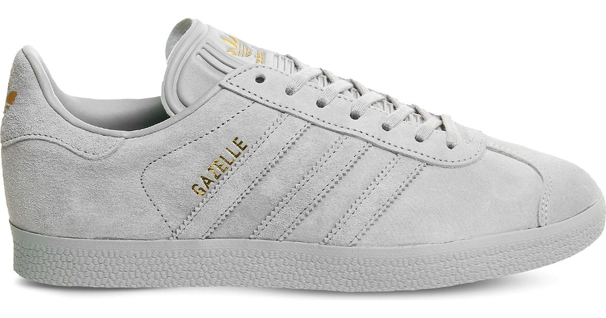 Adidas Gray Gazelle Low-top Suede Trainers for men