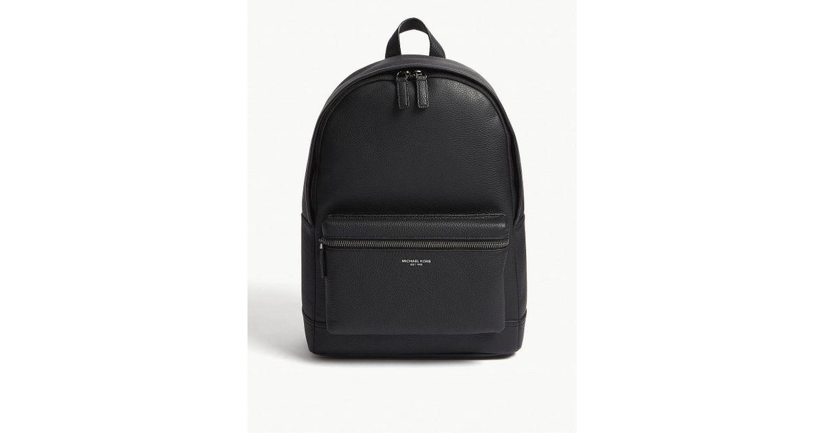 5c44d00336da2d Michael Kors Bryant Pebbled Leather Backpack in Black - Lyst