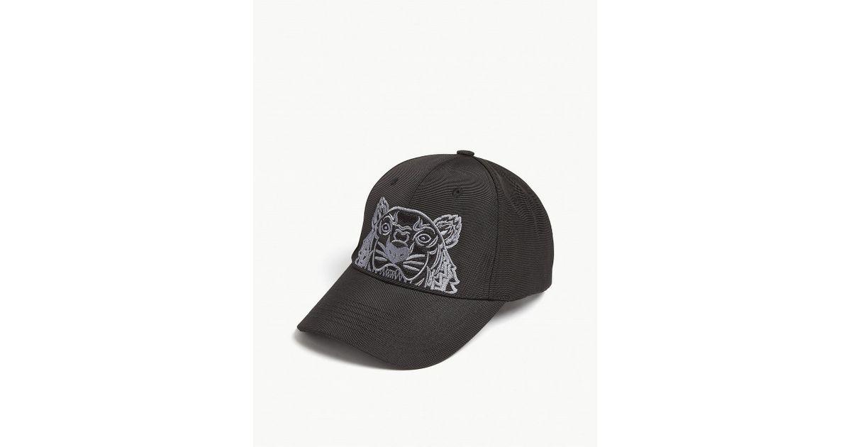 ca12bf3dd KENZO Black Tiger Canvas Cap for men