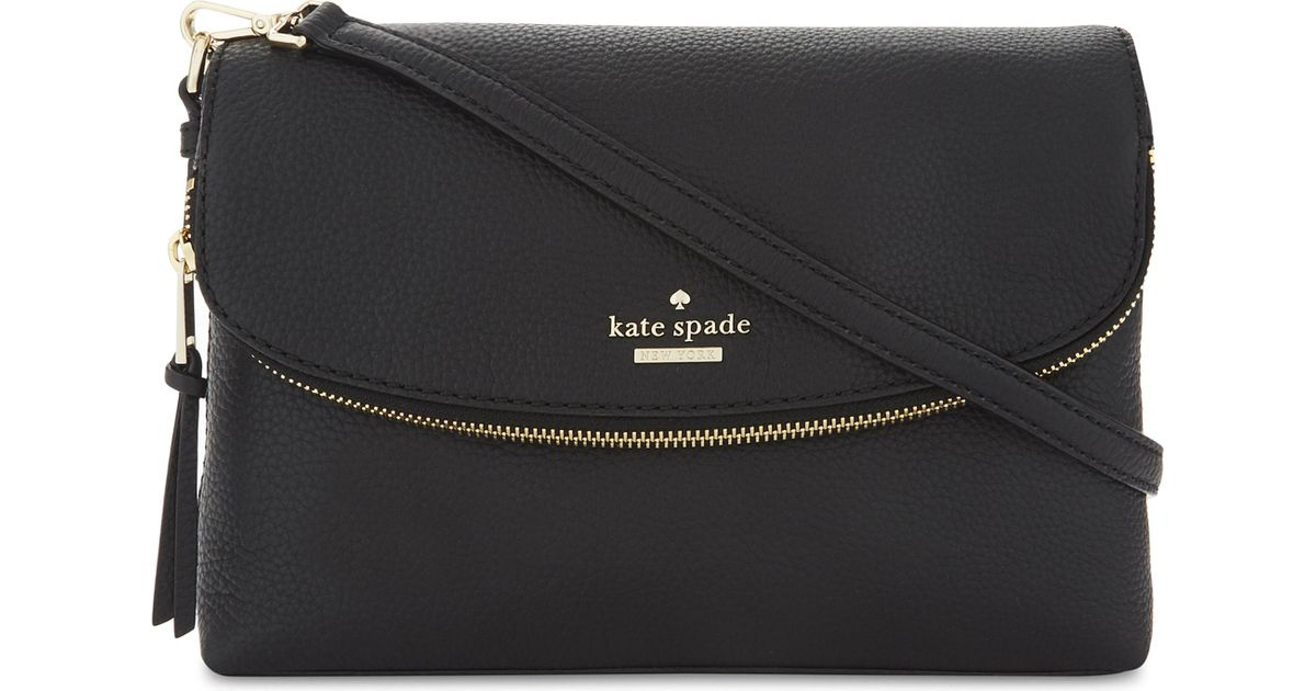 for whole family quality good service Kate Spade Black Jackson Street Harlyn Grained Leather Cross-body Bag