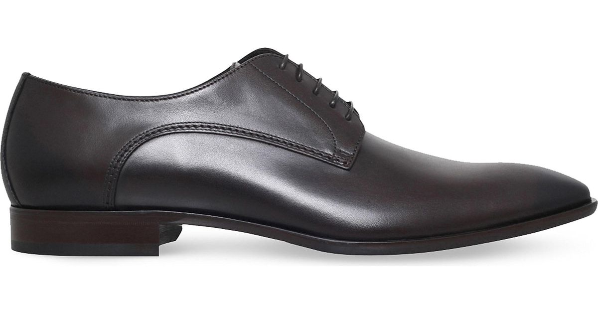 neu kommen an beste Seite hell im Glanz BOSS Brown Hugo Carmons Leather Derby Shoes for men