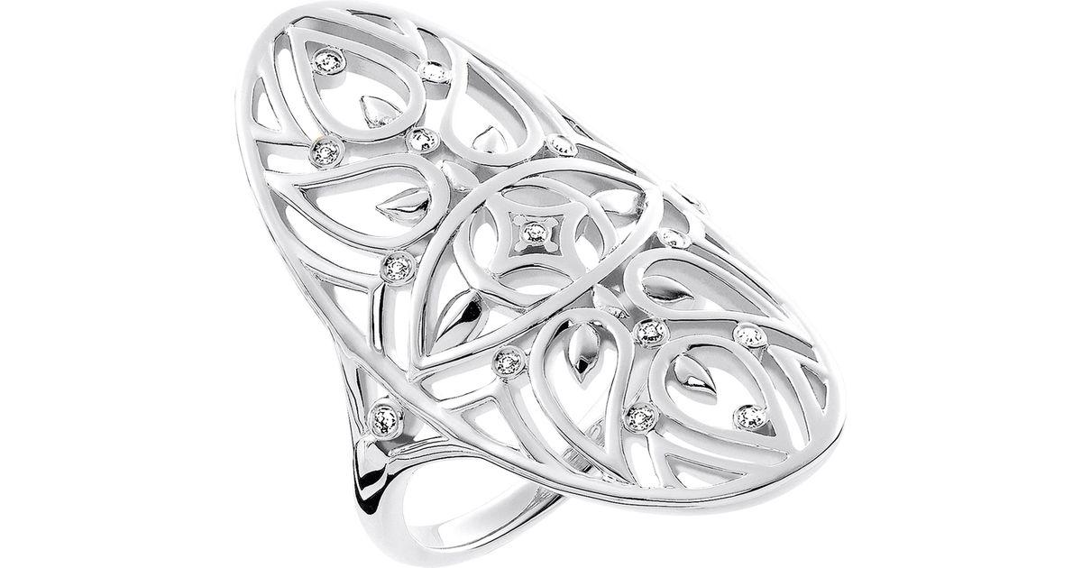 Goldia Sterling Silver Cross /& Weave Design Ring