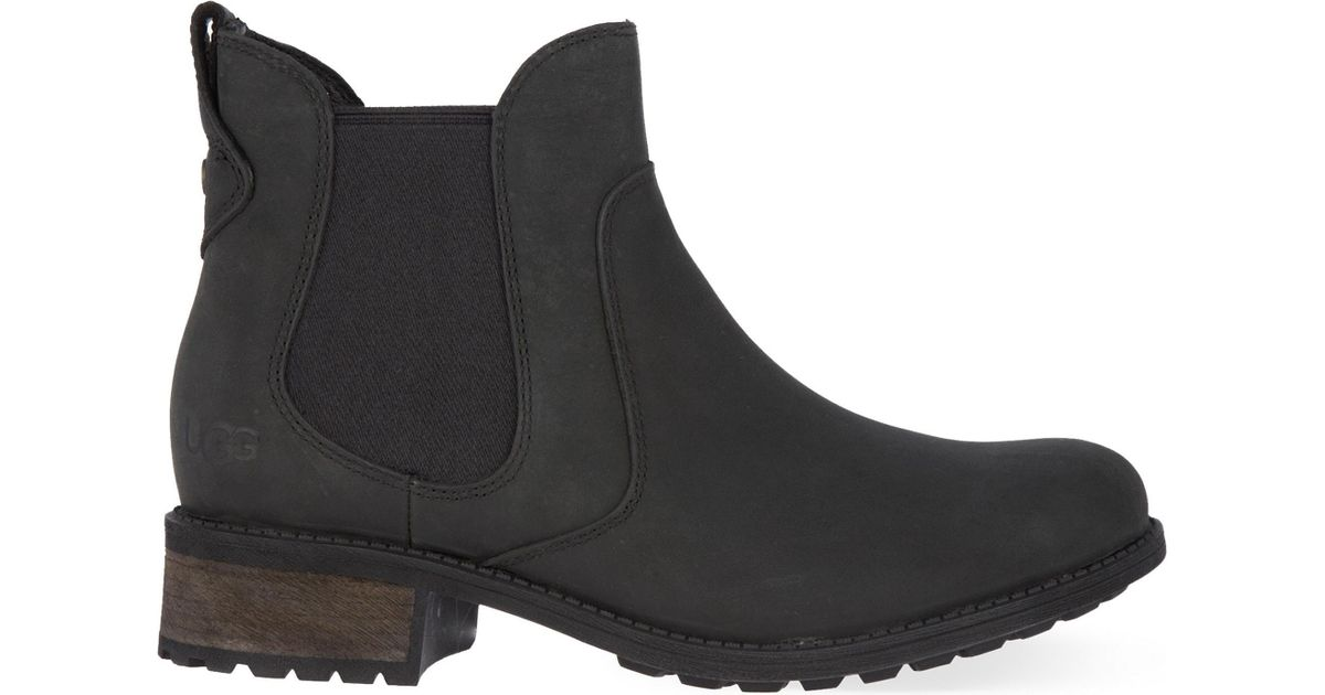 Ugg Leather Bonham Chelsea Boots In Black Lyst