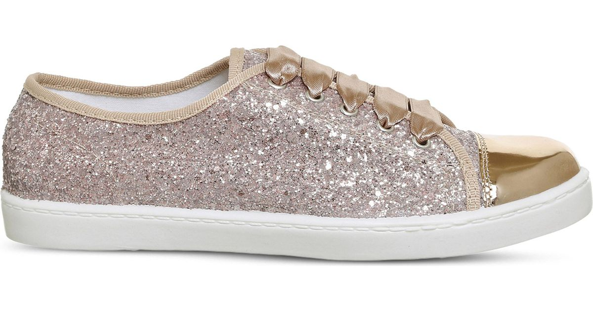 Office Satin Puffin Glitter Trainers in