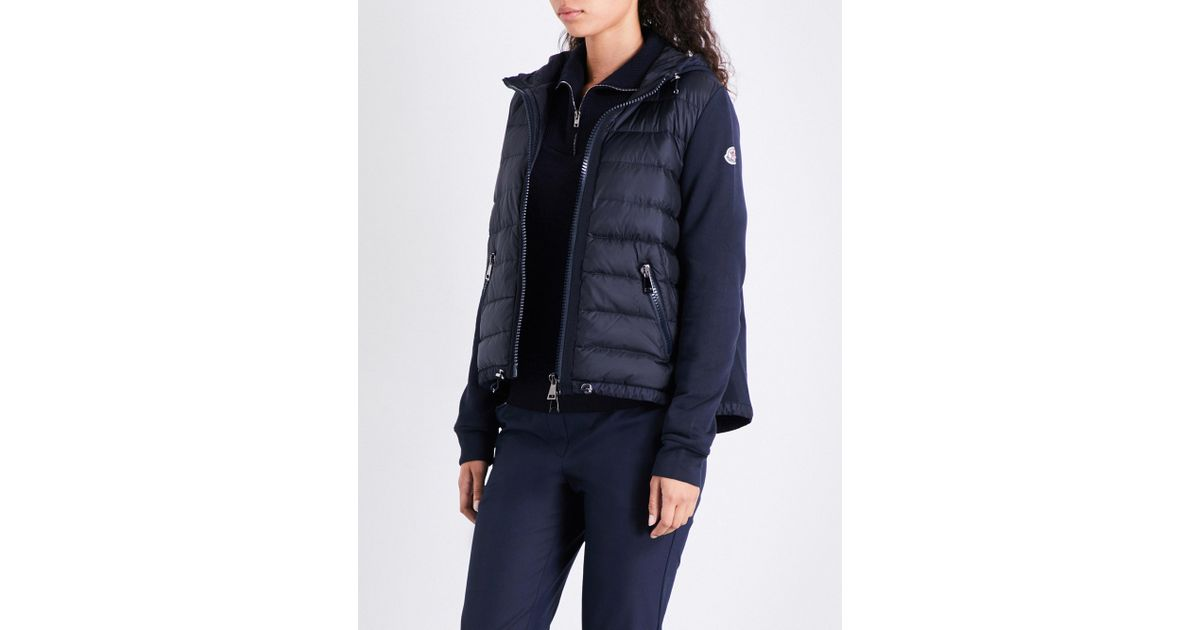 ad872b2a4 Moncler Blue Quilted Shell And Cotton-jersey Jacket