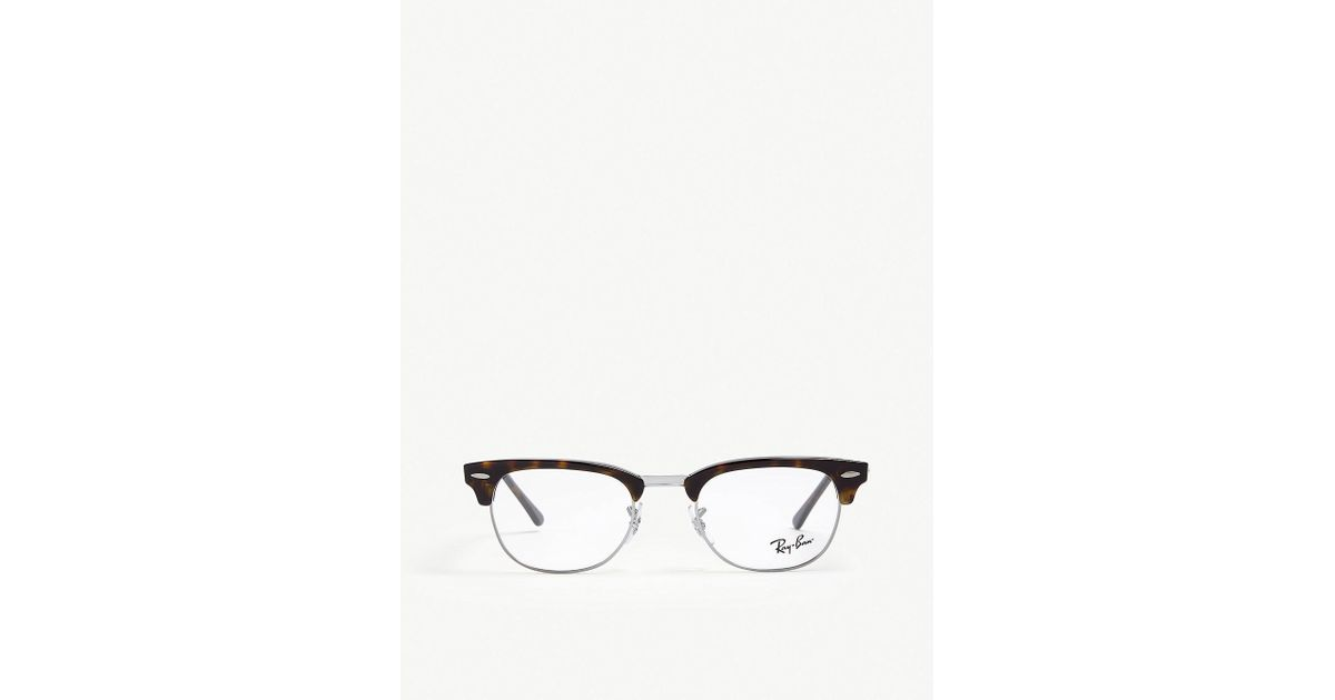 Lyst - Ray-Ban Clubmaster Rectangle-frame Glasses in Brown