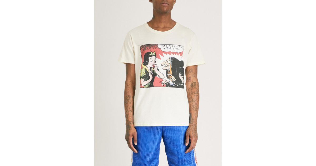 b9decff96694 Gucci Snow White Cotton T-shirt in White for Men - Lyst