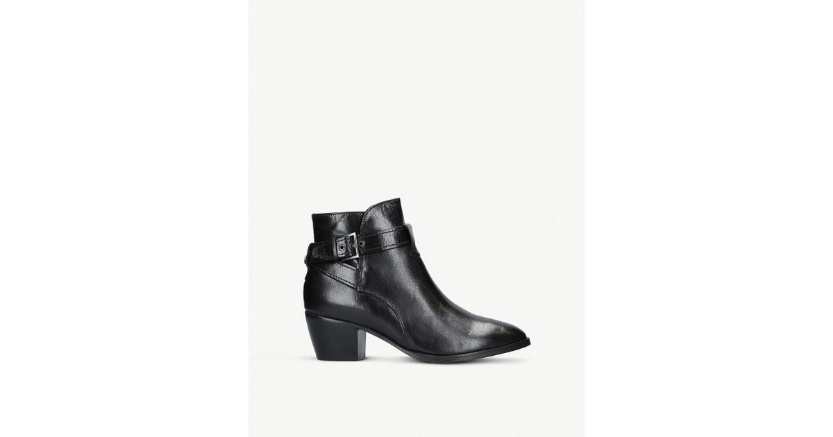 Nine West Naomi Leather Boots in Black