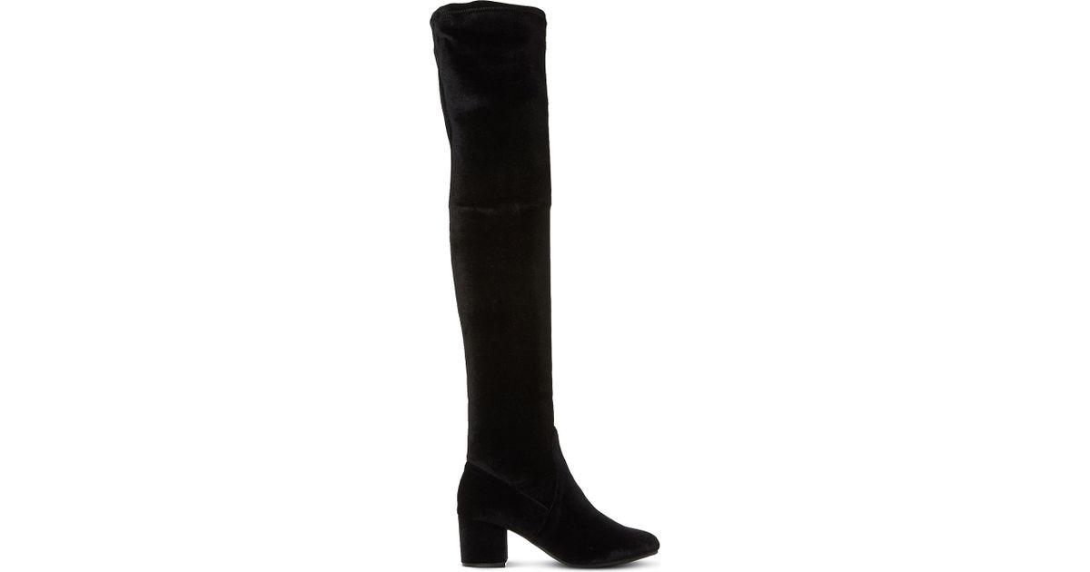 3431ad39b01 Lyst - Steve Madden Isaac Sm Velvet Over-the-knee Boots in Black