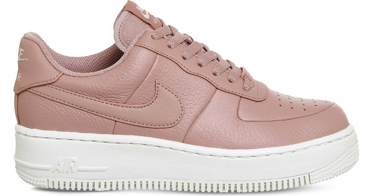 Nike Air Force 1 Upstep Leather Trainers in Pink - Lyst ef7fbbab9