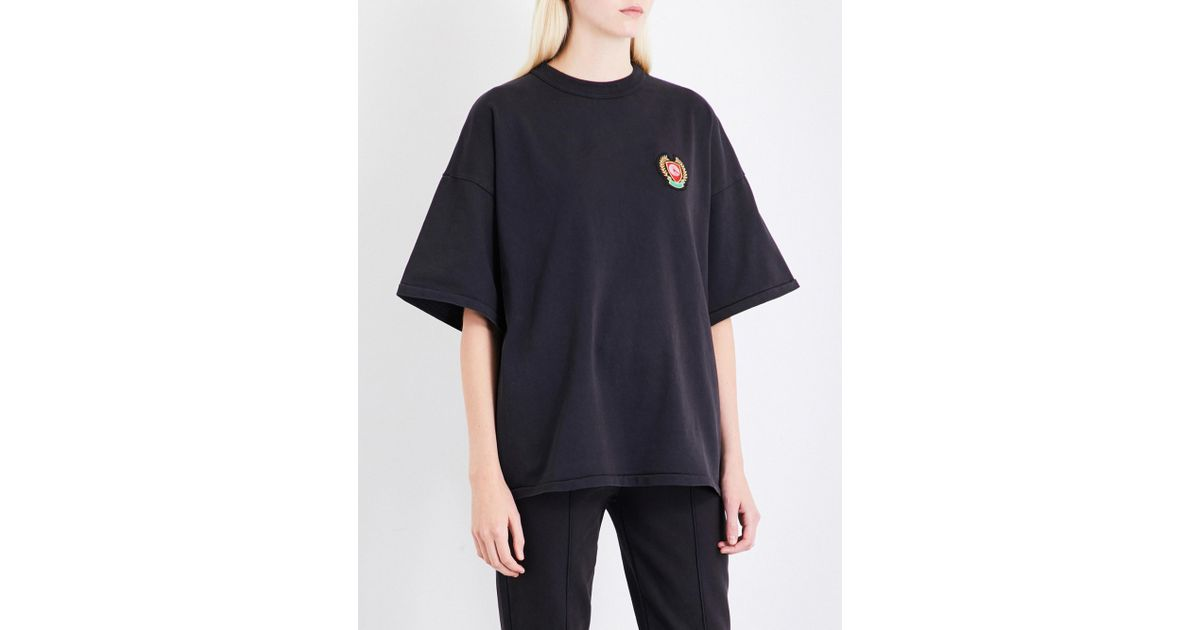 Badge Cotton Yeezy 5 Black Shirt Lyst Detail Jersey Season In T 0wkNOXZ8nP