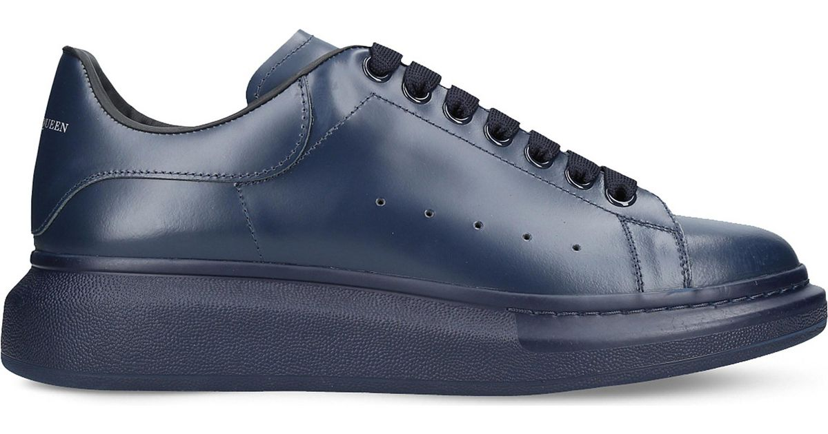 40e9c2005bb4 Lyst - Alexander McQueen Show Leather Platform Trainers in Blue